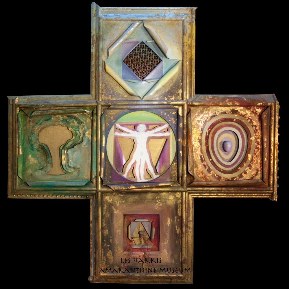 Philosophy Religion Science Art (wood, canvas, oil, metallic) 63